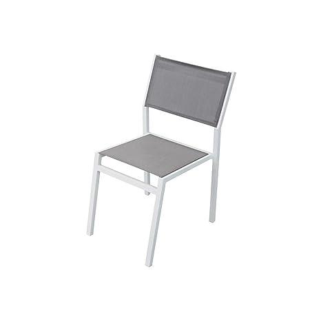 Sedie Per Ristorante Da Esterno.Sedia Impilabile In Alluminio Bianco E Textilene Da Esterno