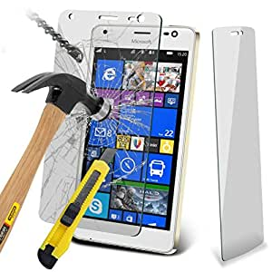 Microsoft Lumia 850 custodia cover (confezione da 2) Copertura per Microsoft Lumia 850 resistente vetro temperato Proteggi schermo Crystal Clear LCD Packs + Panno & scheda Applicazione