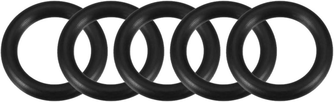 3,5mm Breite de O Ringe Nitrile Gummidichtung 34mm Innendurchmesser sourcing map 5 Stk