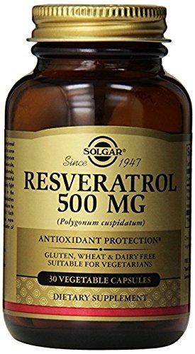 Solgar - Resveratrol 500 mg, 30 Vegetable Capsules (Resveratrol 500 Mg)