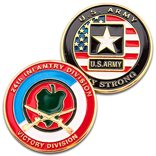 - Art Crafter Victory 24th Infantry Division Challenge Coin A013J