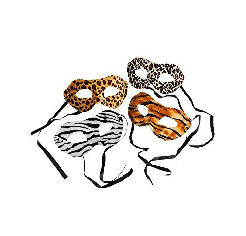 Animal Print Masks Package of 12 - http://coolthings.us