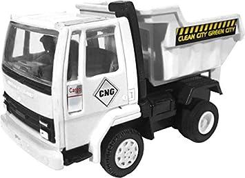 Centy Ashok Leyland Dumper Truck Miniature Pull Back Toy (White)