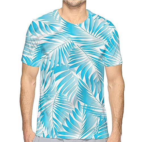 Mens t Shirt Leaf,Exotic Miami Palms HD Print t Shirt XL ()