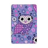 Vantaso Soft Blankets Throw Purple Pink Blue Flowers and Owls Microfiber Polyester Blankets for Bedroom Sofa Couch Living Room for Kids Children Girls Boys 60 x 90 inch