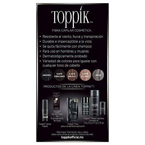 Amazon.com: Toppik Hair Building Fibers, Gray, 0.42 Ounce ...
