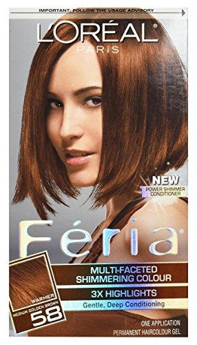 L'Oreal Feria Haircolor, Bronze Shimmer 58 1 ea