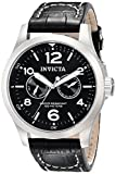 Invicta II Men's 0764 Stainless Steel Watch with Black Leather Band