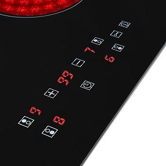 Placa de vitrocerámica, 4 zonas Cocina eléctrica vitrocerámica, Eeléctrica vitrocerámica integrada, Controles táctiles del Sensor, 60cm Encimeras De Cocción, vitrocerámica portatil: Amazon.es: Grandes electrodomésticos