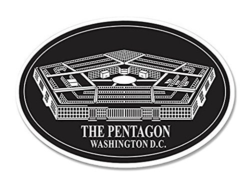 OVAL The PENTAGON Seal Sticker (military decal building us)- Sticker Graphic - Pentagon Directions To