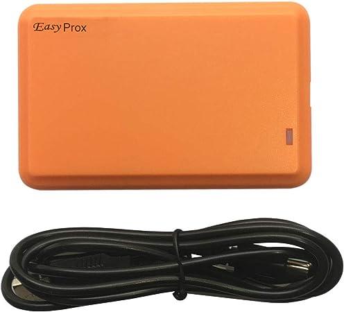 Lector de Tarjetas RFID 125 KHz EM4100 Lector de Tarjetas de identificación con 36 formatos O/P configurables, emular Teclado o Salida USB HID para ...