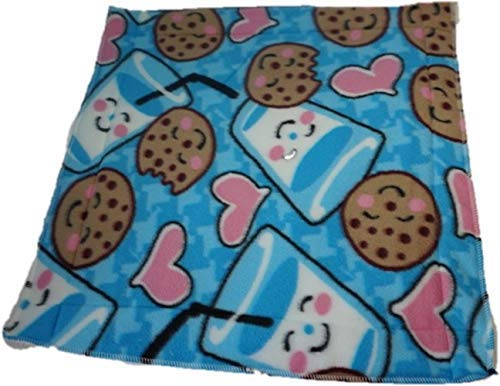 Waterproof pet mat- Blue milk and cookies 20x20 inches