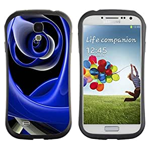 LASTONE PHONE CASE / Suave Silicona Caso Carcasa de Caucho Funda para Samsung Galaxy S4 I9500 / Abstract Blue