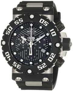Invicta Men's 0653 Subaqua Collection Nitro Chronograph Black Polyurethane Watch