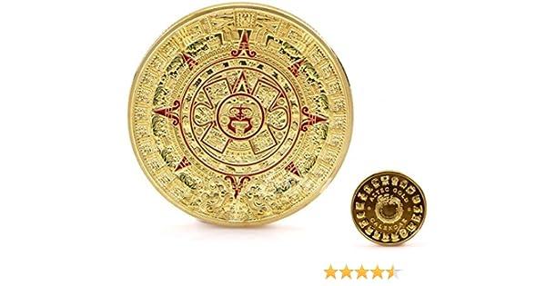 Calendario Maya Azteca Recuerdo 24k chapado en oro Moneda ...
