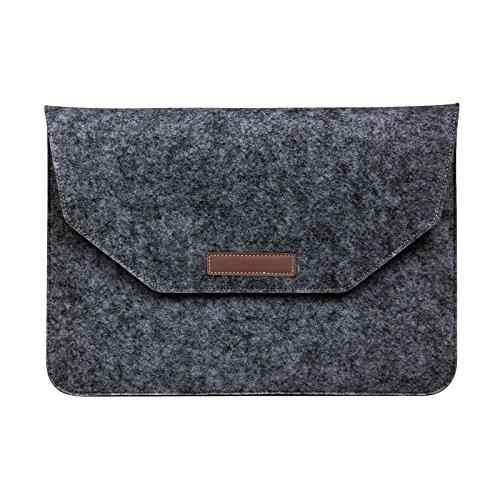 MacBook Air/Pro Retina Laptop Tasche,Laptophülle Notebooktasche Schutzhülle Hülle Sleeve Tasche für Laptop Macbook Pro Retina 15/2016 Neu Pro 15 (Dunkelgrau) Dunkelgrau