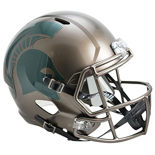 Michigan State Spartans Bronze Officially Licensed NCAA Speed Full Size Replica Football Helmet by Riddell