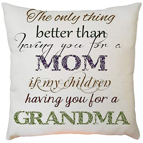 (2019 EOWEO Happy Mother's Day Sofa Bed Home Decoration Festival Pillow Case Cushion Cover(43cm×43cm,G))