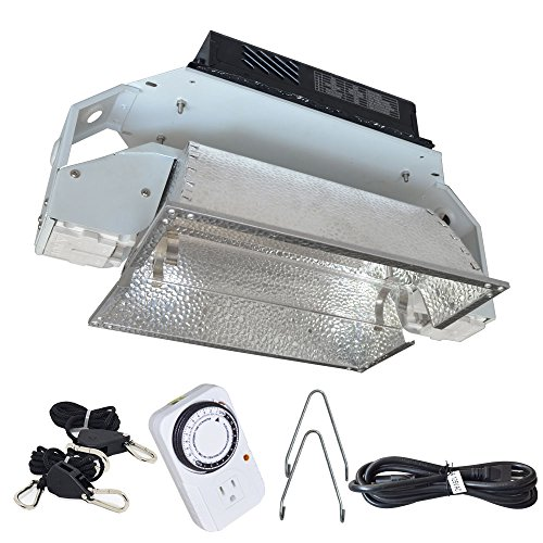 Suluxlight SLDE1000 Grow Light Fixture Doubel Ended Lamp, HPS DE 1000Watt MH1000Watt,with Digital Ballast, 400/600/1000/1100w dimmable