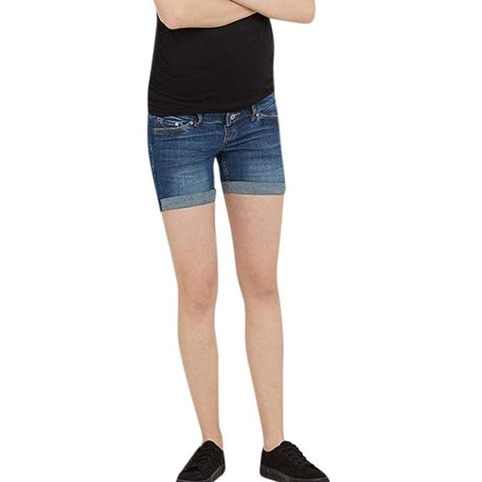 Elastische Umstandshosen Destroyed Elegante Skinny Hohe Taille Bleistifthose Trousers Hosen Mode Freizeithose Schwangerschaftshose Doublehero Damen Umstandsjeans Casual Maternity Hosen