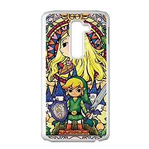 LG G2 Cell Phone Case White Legend of Zelda GGE Back Plastic Phone Case