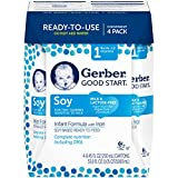 Gerber Good Start Stage-1 Soy Non-GMO Ready to Feed Infant Formula, 33.8 Fl Oz - 4 Count (Pack of 2)