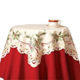Collections Etc Christmas Holiday Holly Berry Table Linens by Collections Etc