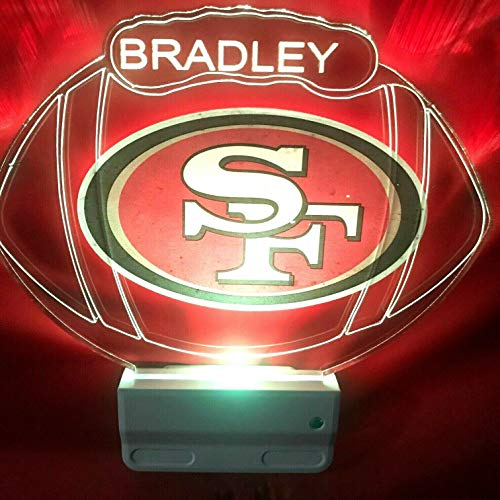 San Francisco 49ers SF NFL Football Night Light Multi Color Personalized LED -