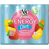 V8 +Energy, Diet Strawberry Lemonade, 8 Ounce (Pack of 24)