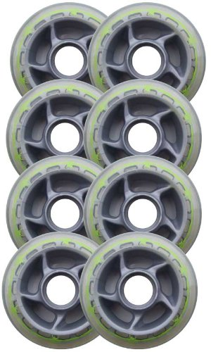 BARBED WIRE 80mm 78a Roller Inline Skate Wheels 8-Pack