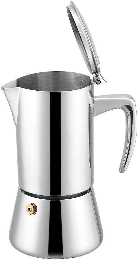 Cafetera, Asixx, Cafetera Moka, Cafetera italiana, de Acero Inoxidable, Para Usar En Cocinas, Hoteles Y Oficinas: Amazon.es: Hogar