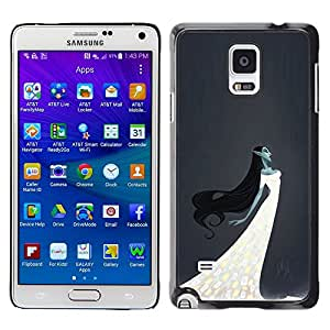 Be Good Phone Accessory // Dura Cáscara cubierta Protectora Caso Carcasa Funda de Protección para Samsung Galaxy Note 4 SM-N910 // Witch Elf Fairy Woman White Dress Night