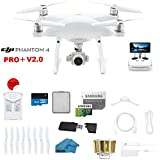 DJI Phantom 4 PRO Plus V2.0 Quadcopter Drone with 1-inch 20MP 4K Camera KIT with Built In monitor, 32GB Micro SDXC Card, Reader 3.0 and Must Have Accessories