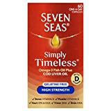 omega 3 cod liver seven seas - Seven Seas Pure Cod Liver Oil High Strength With Omega 3 Plus Vitamins D & E 60 Capsules