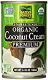 Native Forest Organic Premium Coconut Cream, Unsweetened, 5.4 Ounce (Pack of 12)