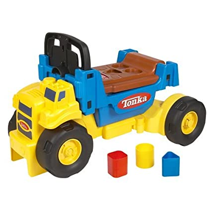 Amazon.com: Playskool tonka Scoot N Scoop 3 en 1 Ride-On ...