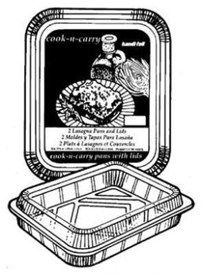 Handi-foil 20392-9 Ultimates Cook N Carry Lasagna Pans with Lids44; 2 Count