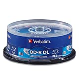 Verbatim BD-R 50GB 6X Blu-ray Recordable Media Disc - 25 Pack Spindle