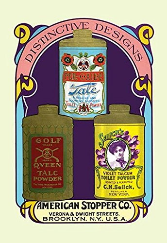 Selicks Violet - Buyenlarge 0-587-07023-4-P1218 Golf Queen Talc Powder, Per-Oxide Talc and Selick's Violet Talcum Powder Paper Poster, 12
