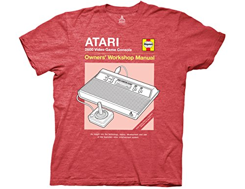 Ripple Junction Atari Haynes Manual Console Adult T-Shirt XL Heather Red