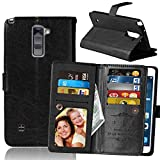 LG Stylus 2 Plus (MS550) Case, VPR Premium Luxury PU Leather Wallet [Card Holder] Strong Magnetic Closure Flip Protective Cover with 9 Card Slots & Stand For LG G Stylo 2 Plus (Black)