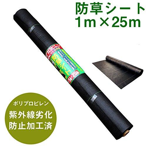 国産 園芸用 防草シート PP(ポリプロピレン) 紫外線劣化防止加工 (6本セット) B06XKK44C4  6本セット