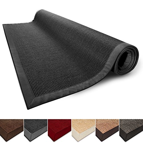 casa-pura-natural-fiber-rug-sisal-non-slip-backing-wide-border-4x6-black-5-colors