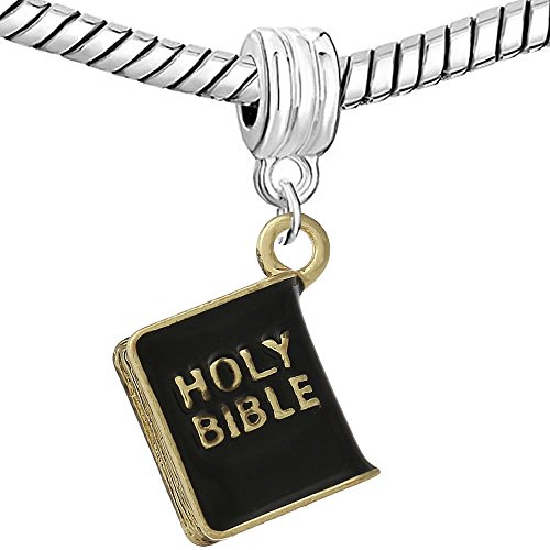 SEXY SPARKLES The Holy Bible Religious Charm Bead Spacer Compatible for Most European Snake Chain Bracelets