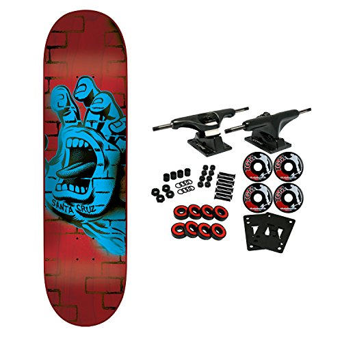 Santa Cruz Skateboard Complete Spray Hand 8.375