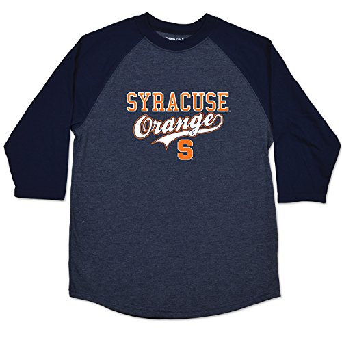 College Kids NCAA Syracuse Orange Youth Home Run Raglan Tee, Size (10-12)/Medium, Navy - T-shirt Youth Syracuse Orange
