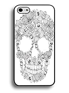 Case for Iphone 6 4.7 Inch ,Cute Floral Skull by lolosakes