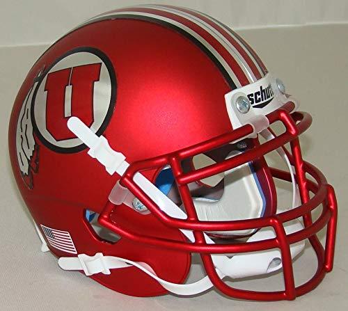 Utah Utes Satin Red Alternate 16 Schutt Authentic Mini Helmet