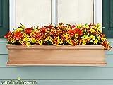 Petite Cedar Lancaster Window Box 48″L x 8″W x 8″H