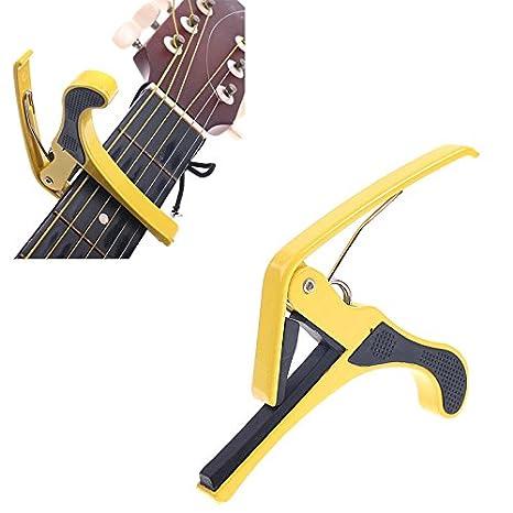 pligh (TM) nuevo mini amarillo/azul Kirsite Cambio Rápido Abrazadera Clave Cejilla da Guitarra para Guitarra Eléctrica duradero Precio: Amazon.es: ...